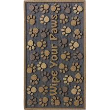 18 In X 30 In Korhani Home K14034 18 In X 30 In Wipe Your Paws Bronze