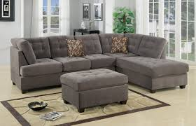 charcoal gray sectional sofa 2 f7139 charcoal 2 pcs sectional sofa by poundex