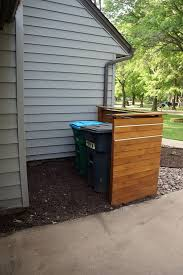 Backyard Storage Containers Diy Trash Can Enclosure U2013 This Looks Pretty Simple To Build For