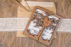 rustic wedding invitation tree wedding invitation rustic kraft