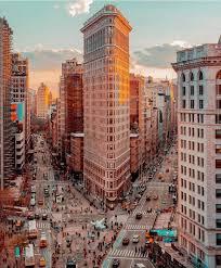 New York travel irons images Flatiron building during sunset new york city tag jpg