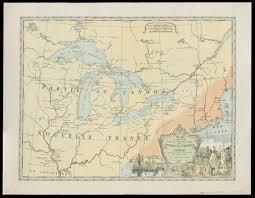 Ou Map Carte Partie Occidenatale De La Nouvelle France Ou Canada