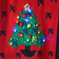 vintage 90s light up ugly christmas sweater vest the ugly