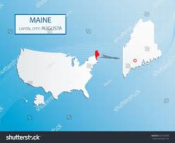 Maine Maps Maine Location On The Us Map Maine Map Showing The Major Travel