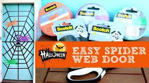 Halloween Washi Tape by Easy Halloween Spider Web Door Using Washi Tape Youtube