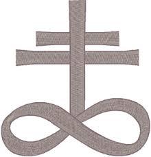 cross infinity embroidery design