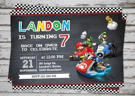 mario kart party invitations cimvitation