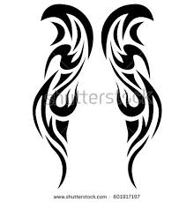 tribal tattoo art designs sketched simple stock vector 601917197