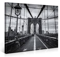 amazon com large canvas print wall art brooklyn bridge walk amazon com large canvas print wall art brooklyn bridge walk 40x30 inch new york cityscape canvas picture stretched on a wooden frame giclee canvas