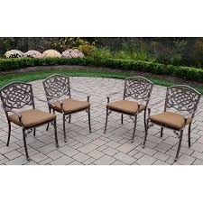 Stackable Patio Furniture Set - oakland living mississippi cast aluminum sunbrella cushioned