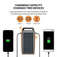 Diy Solar Phone Charger Solar Charger Ravpower 15000mah Outdoor Portable Charger Solar