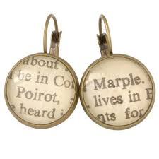 agatha earrings agatha christie earrings the literary gift company