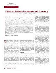 Can A Power Of Attorney Be Revoked by Power Of Attorney Documents And Pharmacy Pdf Download Available