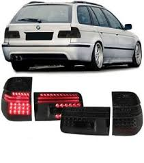 bmw e39 rear all smoked black led rear lights lamps for the bmw e39 5 series