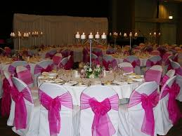 pink chair sashes fuschia hot pink organza sashes s party rental