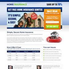 home insurance landing page design templates to capture leads