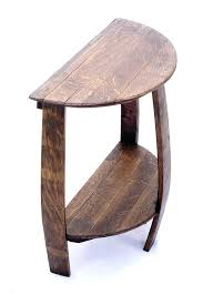 half circle accent table semi circle accent table amazing half moon with best console ideas