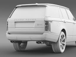 land rover white 2016 range rover svautobiography l405 2016 by creator 3d 3docean