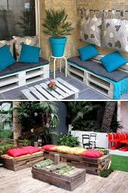 Pallet Patio Ideas Perfect Cushions For Pallet Furniture And Patio Furniture Fpudining