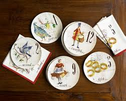 12 days of christmas salad dessert plates set of 12 williams sonoma