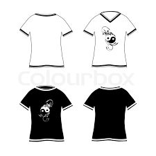 vector illustration of a two t shirts design template front u0026 back