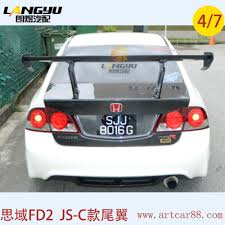 honda civic spoiler brake light fit for honda for civic fd2 fa1 gt jsracing c gt wing carbon fiber