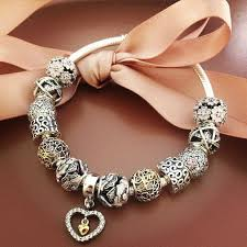 pandora silver bracelet with charms images Pandora charm bracelet with charms drop silver earrings pandora jpg