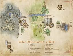Lightning Maps The Arcanist U0027s Mill A Wizard U0027s Tower Map With A Twist