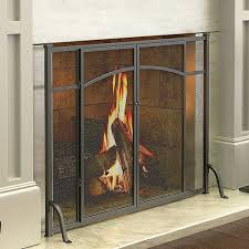 hyde park flat panel fireplace screen with doors 110 liked on polyvore featuring