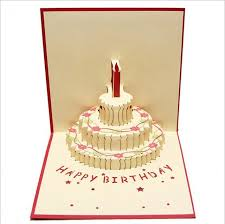 wedding gift greetings aliexpress buy new 3d cake happy birthday pop up cards