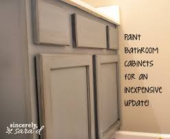 how to redo bathroom cabinets for cheap bathroom cabinets painted coryc me