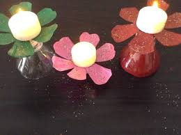 recycle water bottle candle light holder youtube