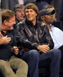 pictures of tom brady at the nba finals game in boston popsugar