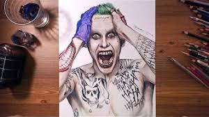tutorial gambar joker gambar joker suicide squad joker jared leto speed drawing hc