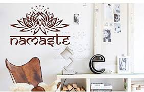 lotus halloween large india namaste home decorating the bedroom wall stickers