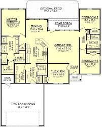 four bedroom house floor plans design traditions home plans 109 1103 floor plan level houses