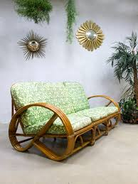 rattan lounge sofa vintage rattan bamboo lounge sofa from rohé noordwolde for sale