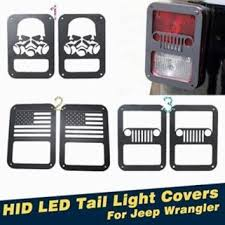 jeep light covers 2pcs matt black hid led light covers from auto toppower on