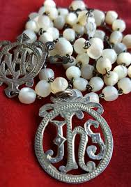 catholic gifts and more antique rosary nouveau rosary of pearl ave