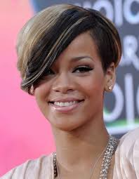 short hairstyles with side swept bangs for women over 50 rihanna short haircut with side swept bangs hairstyles weekly