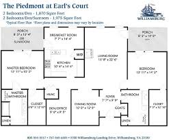 apartment floor plans with dimensions williamsburg landing williamsburg va apartments and floor plans