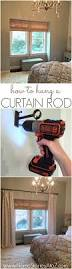How To Hang Draperies How To Hang A Curtain Rod And Black Decker Drill Giveaway Home