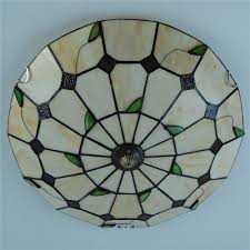 Stained Glass Light Fixtures Dining Room by Brightness Diameter 40cm Tiffany Ceiling Light Glass Shade Living