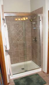 Shower Stall With Door Prefab Shower Stall Lowes Bathrooms Pinterest Small With Regard To