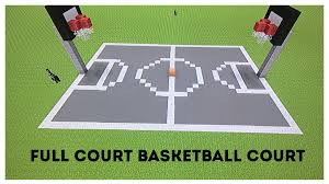 minecraft tutorial how to make a full court basketball court