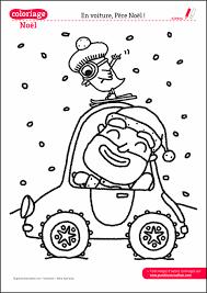 Coloriage de Noël à imprimer  La voiture du pere noel  Grandir