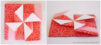 How To Make A Card Envelope - origami pinwheel envelopes a spoonful of sugar