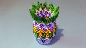 Simple Origami Vase - 3d origami vase easy simple origami for