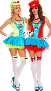 halloween costumes for women super mario brothers fancy
