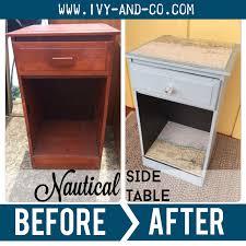 Nautical Side Table Before U0026 After Nautical Side Table Ivy U0026 Co
